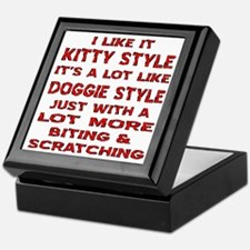 I Like It Kitty Style Keepsake Box