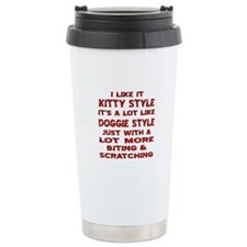 I Like It Kitty Style Travel Mug