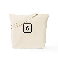 number 6 six Tote Bag