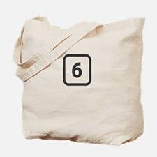number 6 six Tote Bag