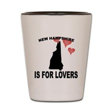 New Hampshire Is For Lovers Shot Glass
