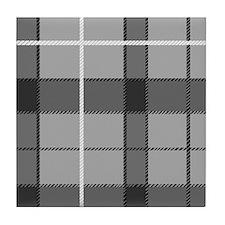 'Gray Tartan' Tile Coaster