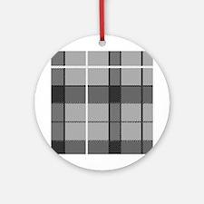 'Gray Tartan' Ornament (Round)