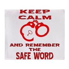 Remember The Safe Word Throw Blanket