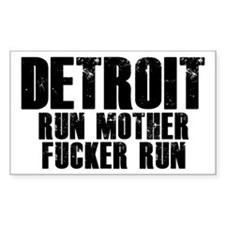 Detroit RUN Decal