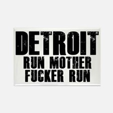 Detroit RUN Rectangle Magnet