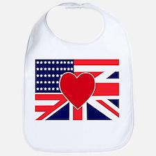 USA & UK Love Bib