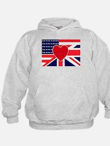 USA & UK Love Hoodie