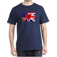 USA & UK Love T-Shirt