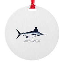 White Marlin Logo Ornament