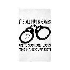 Loses The Handcuff Key 3'x5' Area Rug