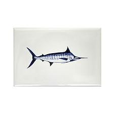 Blue Marlin Logo Rectangle Magnet