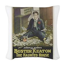 buster keaton Woven Throw Pillow