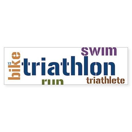 Triathlon-2 Bumper Sticker