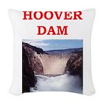 hoover dam Woven Throw Pillow