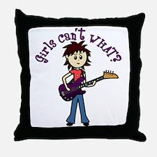 Light Bass Guitar Throw Pillow