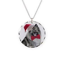 Santa Keeshond Necklace