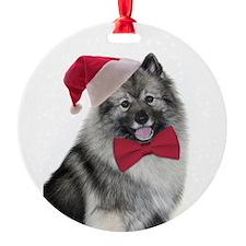 Santa Keeshond Ornament