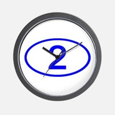 Number 2 Oval Wall Clock