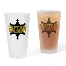 Captain Awesome Drinking Glass
