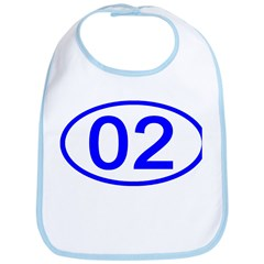 Number 02 Oval Bib