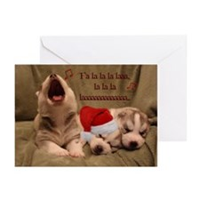 Husky Puppies Christmas song - Cards (Pk of 20)