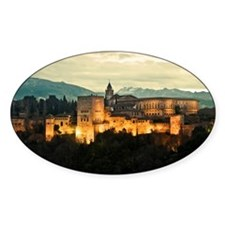 Alhambra Palace at Dusk Decal