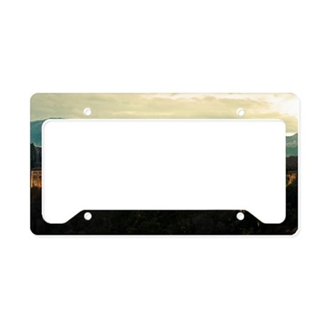 Alhambra Palace at Dusk License Plate Holder