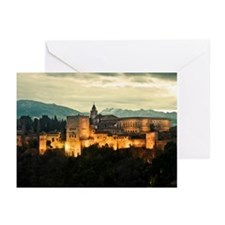 Alhambra Palace at Dusk Greeting Cards (Pk of 10)