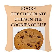 books Woven Throw Pillow