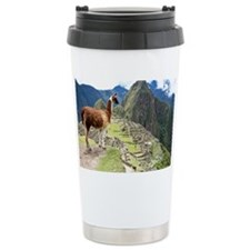 Ancient Inca lost city Machu Pi Travel Mug