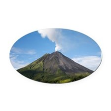 Arenal Volcano In Costa Rica Oval Car Magnet