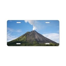 Arenal Volcano In Costa Ric Aluminum License Plate