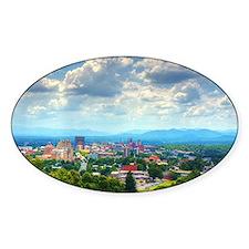 Asheville, North Carolina skyline n Decal