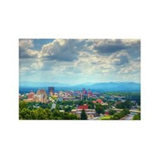Asheville, North Carolina skyline Rectangle Magnet