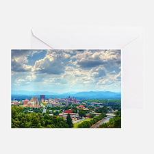 Asheville, North Carolina skyline ne Greeting Card