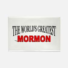 """The World's Greatest Mormon"" Rectangle Magnet"