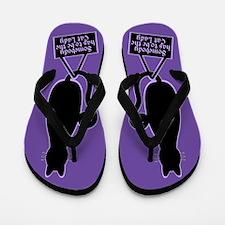 Cat Lady Purple Flip Flops