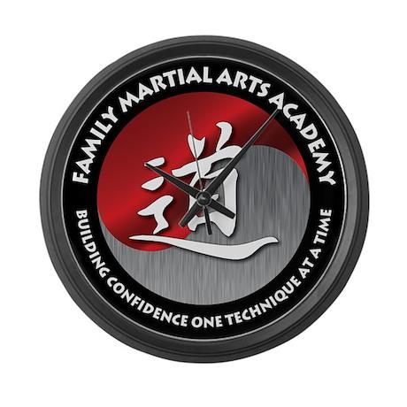 FMAA Logo 10 x 10 png Large Wall Clock