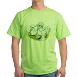 Sultan Bantam Chickens Green T-Shirt