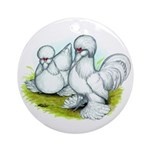 Sultan Bantam Chickens Ornament (Round)