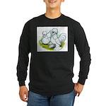 Sultan Bantam Chickens Long Sleeve Dark T-Shirt