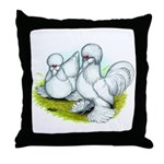 Sultan Bantam Chickens Throw Pillow