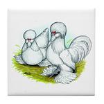 Sultan Bantam Chickens Tile Coaster