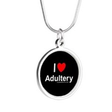 Adultery Silver Round Necklace