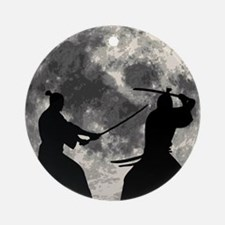 Samurai Moon Ornament (Round)