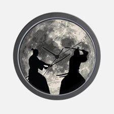 Samurai Moon Wall Clock