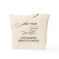 Gravity Check (Lt) Tote Bag