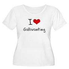 I Love Gallivanting Plus Size T-Shirt
