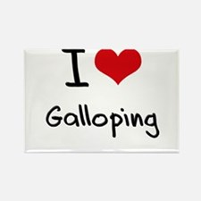 I Love Galloping Rectangle Magnet